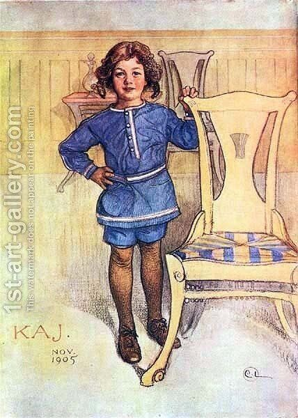 Kaj by Carl Larsson - Reproduction Oil Painting