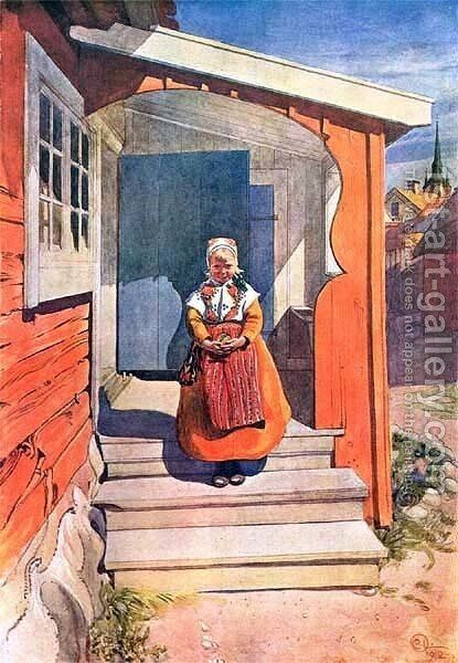 Lillanna by Carl Larsson - Reproduction Oil Painting