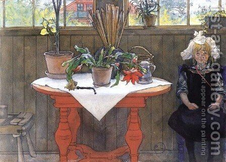 Lisbeth In The Atelier by Carl Larsson - Reproduction Oil Painting