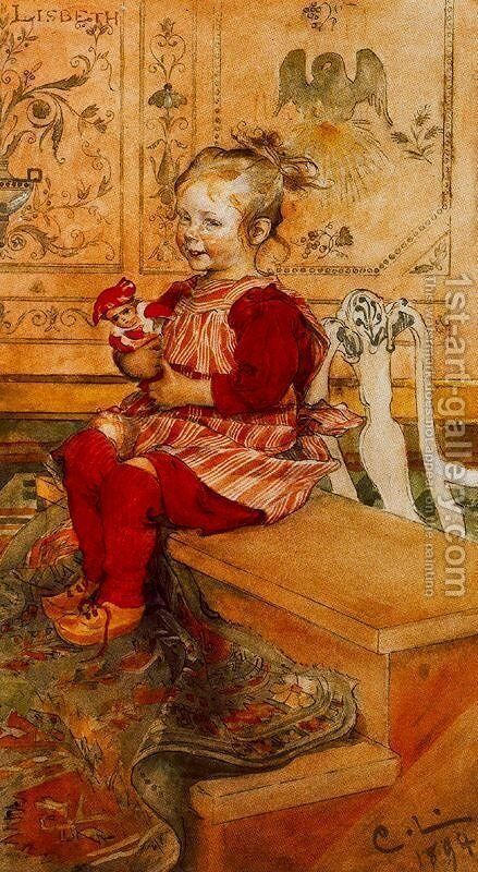 Lisbeth by Carl Larsson - Reproduction Oil Painting
