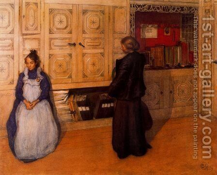 Mother and daughter by Carl Larsson - Reproduction Oil Painting