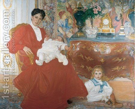 Mrs. Dora Lamm by Carl Larsson - Reproduction Oil Painting