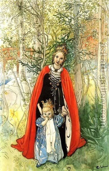 Our Princess by Carl Larsson - Reproduction Oil Painting