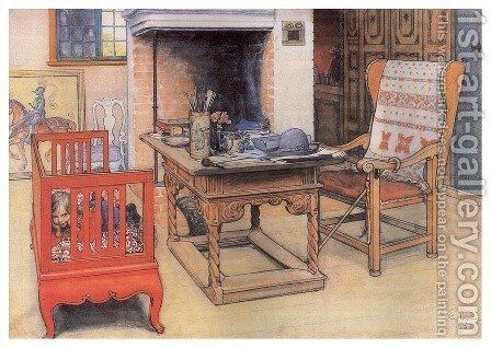 Peek-A-Boo by Carl Larsson - Reproduction Oil Painting