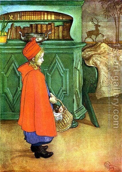 Red Coat by Carl Larsson - Reproduction Oil Painting