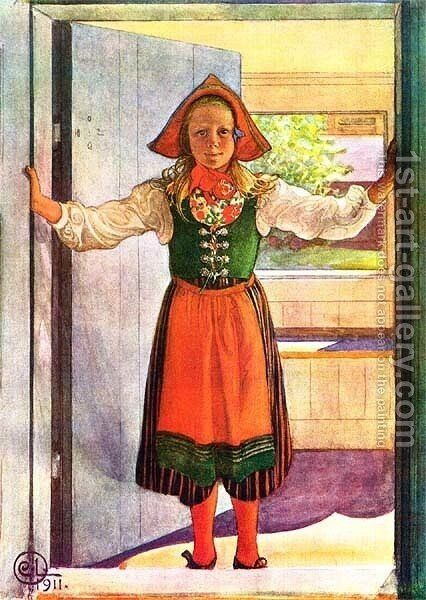 Rosalind by Carl Larsson - Reproduction Oil Painting