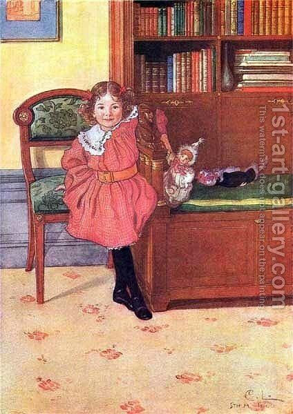 Ruth by Carl Larsson - Reproduction Oil Painting