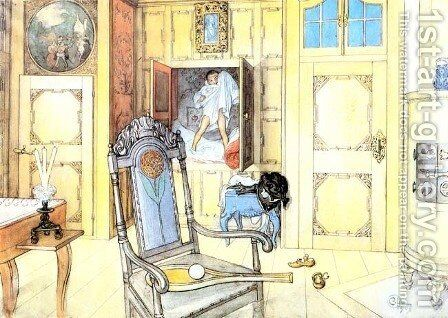 The Antiquity Room by Carl Larsson - Reproduction Oil Painting