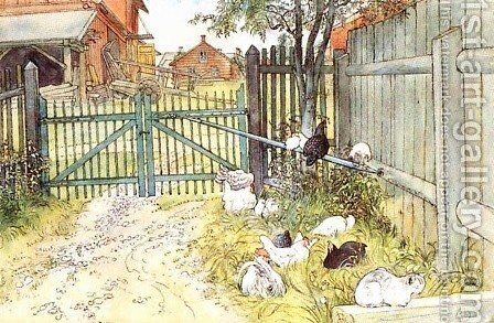 The Gate by Carl Larsson - Reproduction Oil Painting