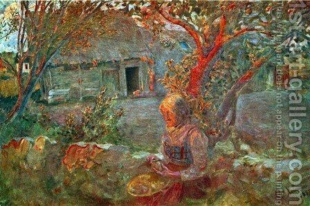 The Last Sunrays by Carl Larsson - Reproduction Oil Painting