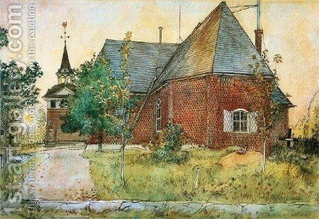 The Old Church by Carl Larsson - Reproduction Oil Painting