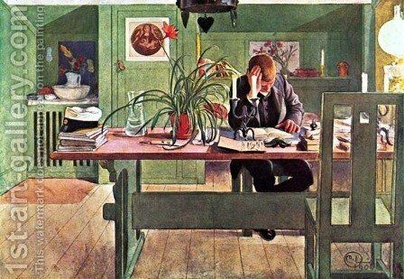 The Oldest Son by Carl Larsson - Reproduction Oil Painting