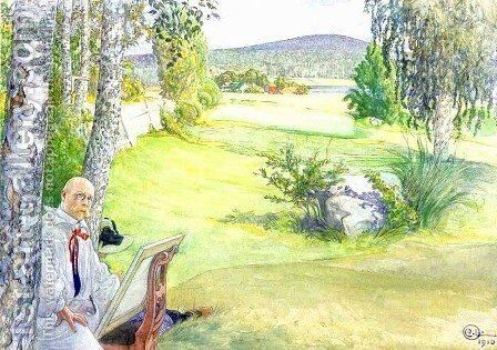 The Paradise by Carl Larsson - Reproduction Oil Painting