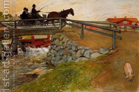 The bridge 2 by Carl Larsson - Reproduction Oil Painting