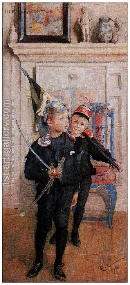 Ulf and Pontus by Carl Larsson - Reproduction Oil Painting