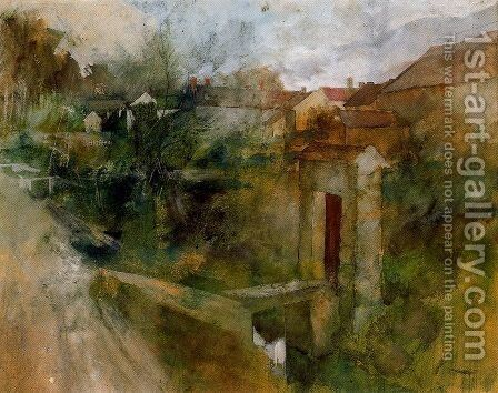View of Montcourt by Carl Larsson - Reproduction Oil Painting