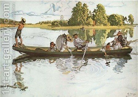Viking Expedition by Carl Larsson - Reproduction Oil Painting