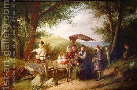 A Day in the Country by Charles Hunt - Reproduction Oil Painting