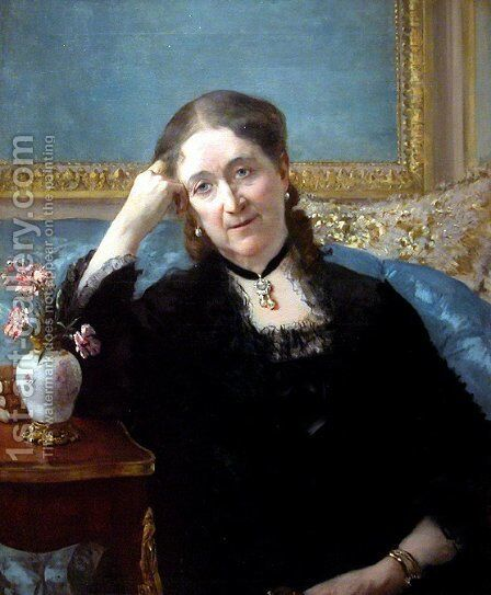 Madame Blerzy by Henri Gervex - Reproduction Oil Painting