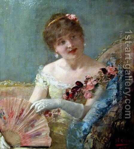 Woman in the range by Henri Gervex - Reproduction Oil Painting