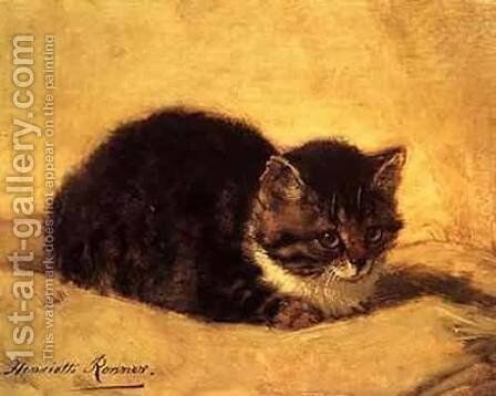 Cat by Henriette Ronner-Knip - Reproduction Oil Painting