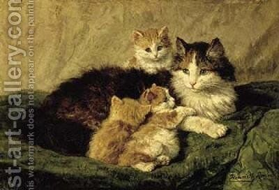 Contentment by Henriette Ronner-Knip - Reproduction Oil Painting
