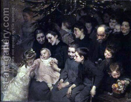The Drop of Milk in Belleville, The Christmas Tree at the Dispensary by Henri-Jules-Jean Geoffroy (Geo) - Reproduction Oil Painting