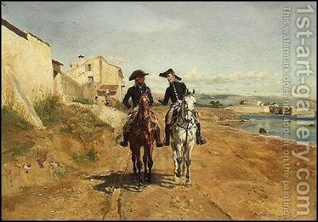 General by Jean-Louis-Ernest Meissonier - Reproduction Oil Painting