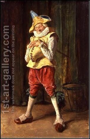 Pulcinella by Jean-Louis-Ernest Meissonier - Reproduction Oil Painting