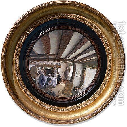 The convex mirror by George Lambert - Reproduction Oil Painting