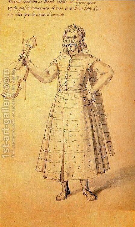 Design of a dress for Music by Giuseppe Arcimboldo - Reproduction Oil Painting