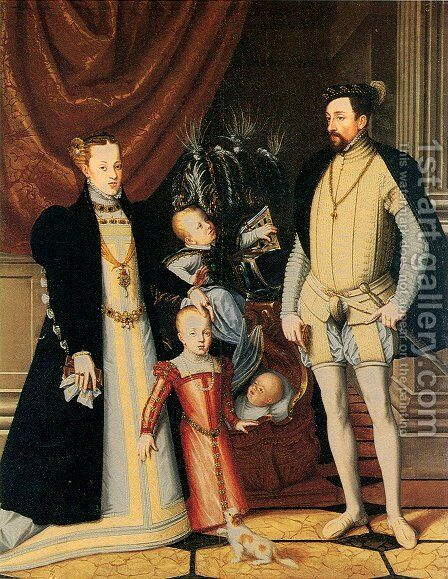 Maximilian II and His Family by Giuseppe Arcimboldo - Reproduction Oil Painting