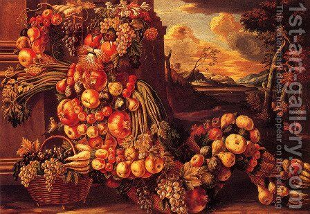 The Autumn 2 by Giuseppe Arcimboldo - Reproduction Oil Painting