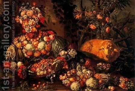 The Spring 5 by Giuseppe Arcimboldo - Reproduction Oil Painting