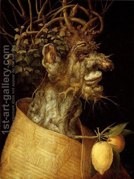 The Winter by Giuseppe Arcimboldo - Reproduction Oil Painting