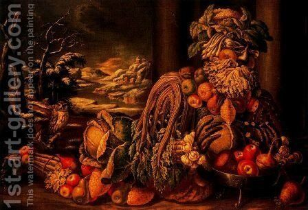 The Winter 2 by Giuseppe Arcimboldo - Reproduction Oil Painting