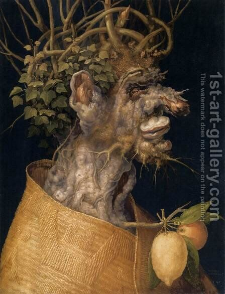 The Winter 3 by Giuseppe Arcimboldo - Reproduction Oil Painting