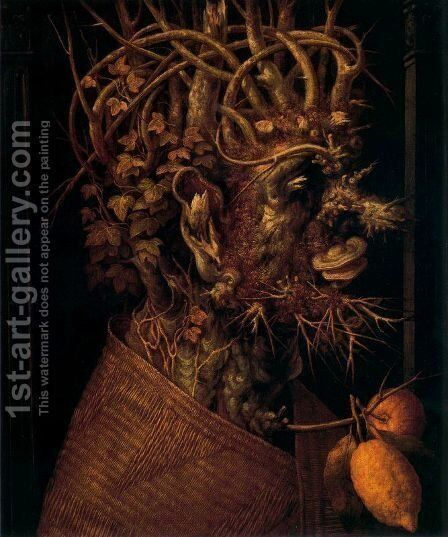 The Winter 5 by Giuseppe Arcimboldo - Reproduction Oil Painting