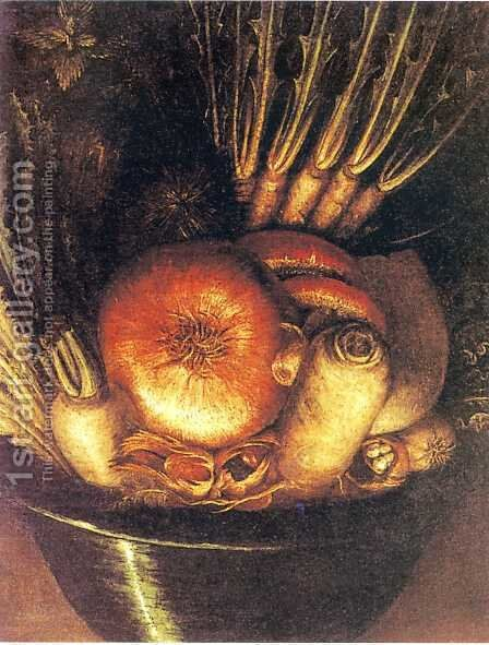 Vegetables upsidedown by Giuseppe Arcimboldo - Reproduction Oil Painting