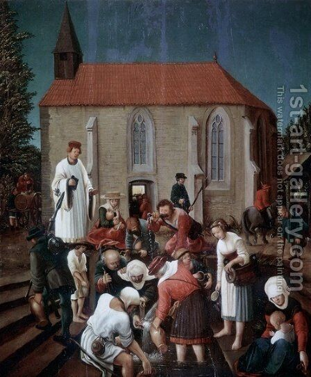 The Floriansfolge by Albrecht Altdorfer - Reproduction Oil Painting