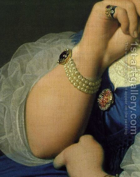 Delphine Ramel, Madame Ingres (detail 2) by Jean Auguste Dominique Ingres - Reproduction Oil Painting