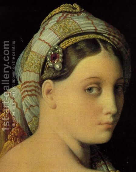 Grande Odalisque (detail) by Jean Auguste Dominique Ingres - Reproduction Oil Painting
