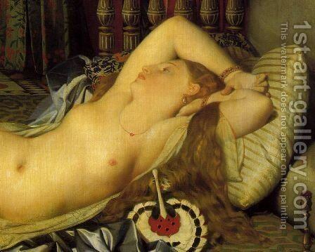 Odaliske und Sklavin 2 (detail) by Jean Auguste Dominique Ingres - Reproduction Oil Painting