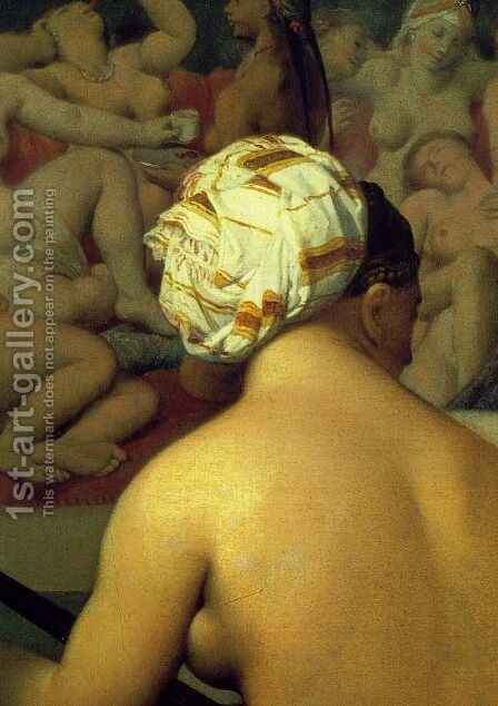 The Turkish Bath (detail) by Jean Auguste Dominique Ingres - Reproduction Oil Painting