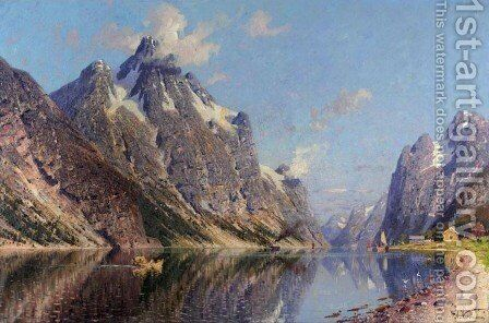 A Summer Day, Norway by Adelsteen Normann - Reproduction Oil Painting