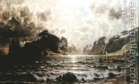 Raftsundet by Adelsteen Normann - Reproduction Oil Painting