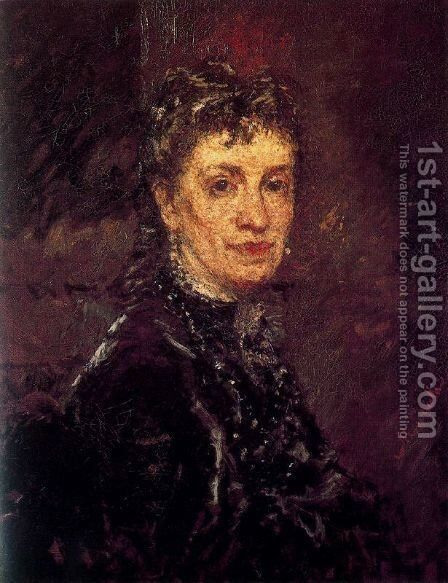 Portrait of Madame René by Adolphe Joseph Thomas Monticelli - Reproduction Oil Painting