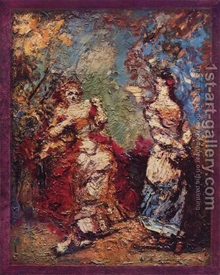 The Precious Ridicules by Adolphe Joseph Thomas Monticelli - Reproduction Oil Painting