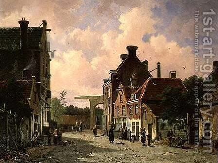Pearn Street, Amsterdam by Adrianus Eversen - Reproduction Oil Painting