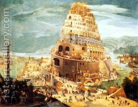 The Tower of Babel by Abel Grimmer - Reproduction Oil Painting